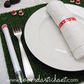 set de table gazon - lien adhésif dentelle-www.coeurdartichaut.