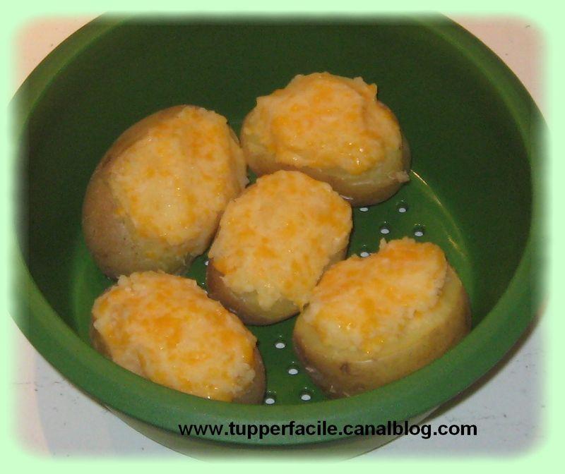 Pommes de terre farcies au fromage et a la ciboulette for Micro vap de tupperware