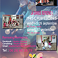 Septembre 2016 inscriptions