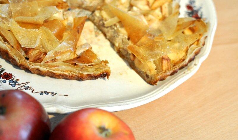 Tarte aux pommes aux feuilles de brick