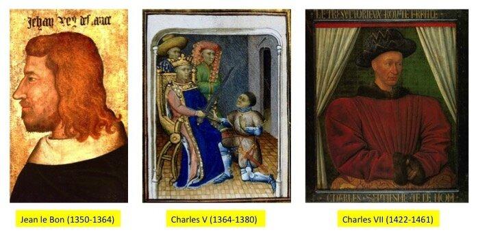 trois portraits en couleur