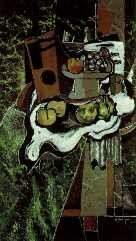 Braque - Fruits on tablecloth
