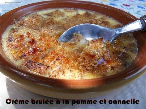 Crèmesbrûléesàlapommeetàlacanele
