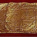 Lot de feuilles d'or à caractères chinois et vietnamiens