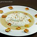 Velouté de pommes de terre en chaud-froid de reblochon d'après jean sulpice
