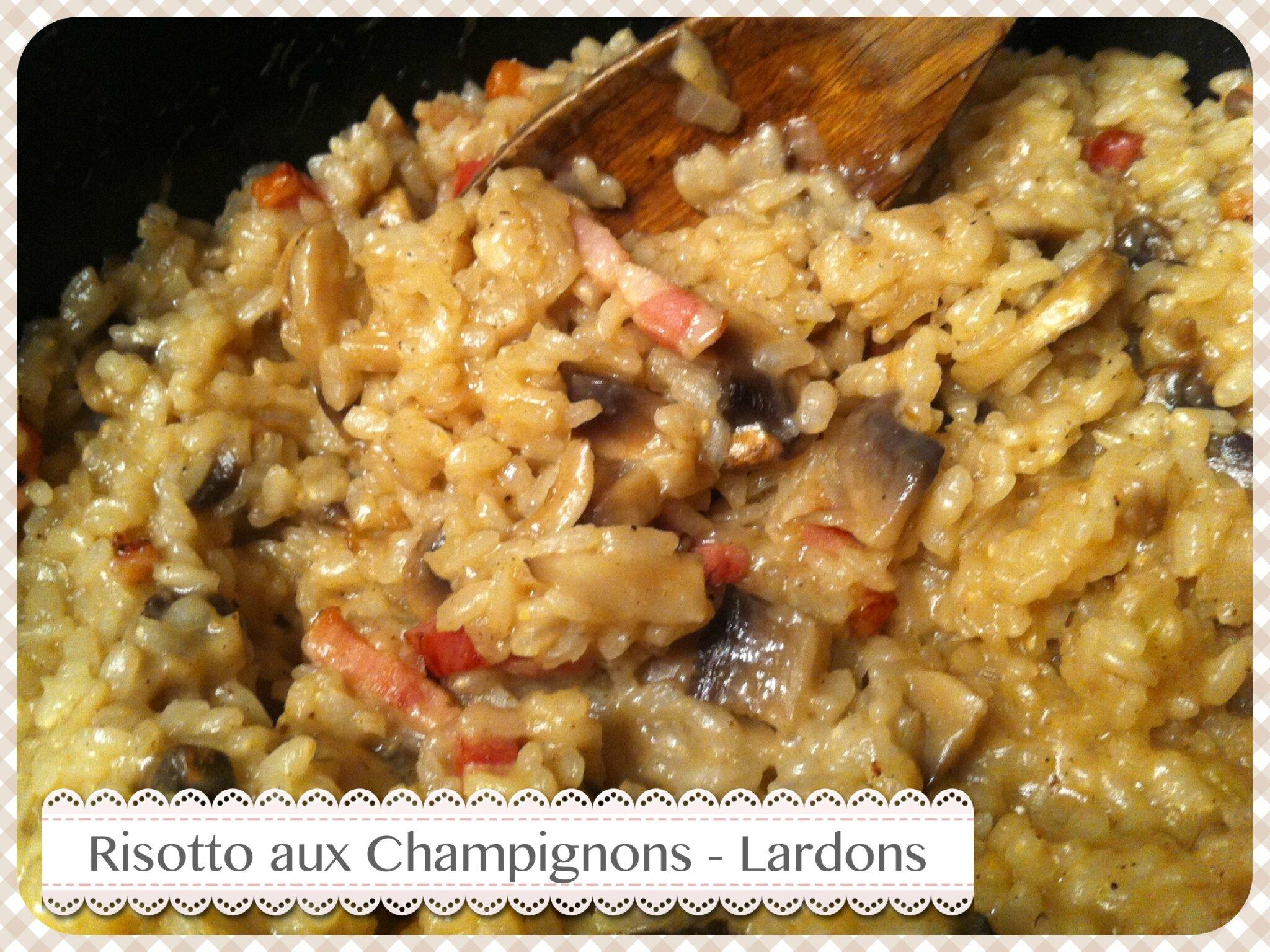 risotto aux chignons et aux lardons