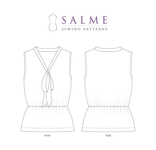 Salme Patterns - Pussy Bow Top