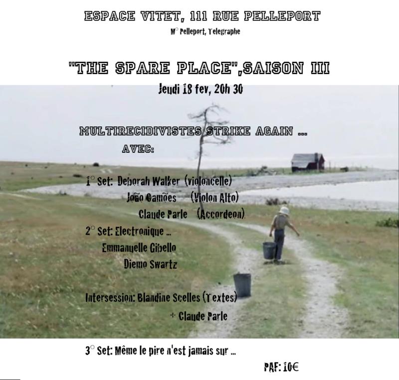 The Spare Place Claude Parle Espace Vitet fev 16