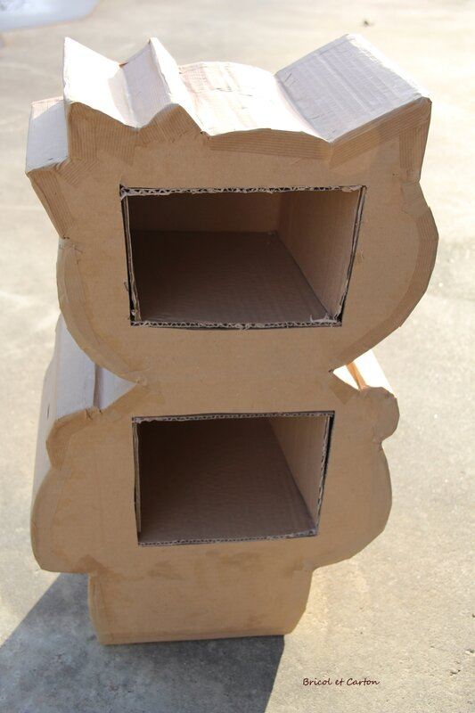 Tuto commode hello kitty en carton bricol et carton for Meuble carton tuto