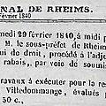 Samedi 29 février 1840 : adjudication de travaux pour l'église