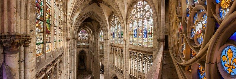 13974-france-Seine-Maritime-Vitraux-perspective-sur-le-transept-de-l-eglise-Abbatiale-de-Saint-Ouen-Rouen-panorama-sentucq