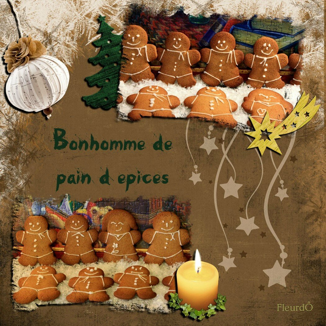 Bonhomme de pain d'épices-Gingerbread man-FleurdÔ-