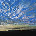 Horizon elevation 49, fev 2016, pastel à l'huile, 48 x 32 cm