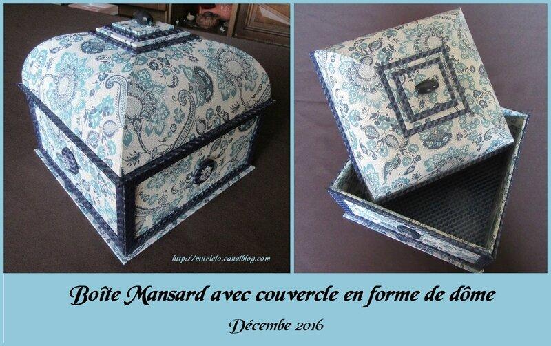 Boîte Mansard avec couvercle en forme de dôme