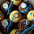Cupcakes pour la naissance d'alexis