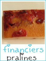 financiers aux pralines roses - index