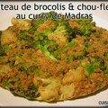Gâteau de brocolis & chou-fleur au curry de madras