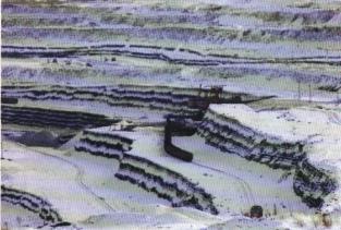 Une mine de charbon à ciel ouvert à Borodinsky en Sibérie