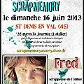 Les ateliers de scrapmemory 2ème édition - avec mumu et sileo le samedi et avec fred le dimanche...