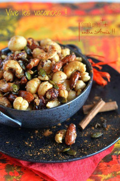 fruits secs aux épices cannelle cumin curry