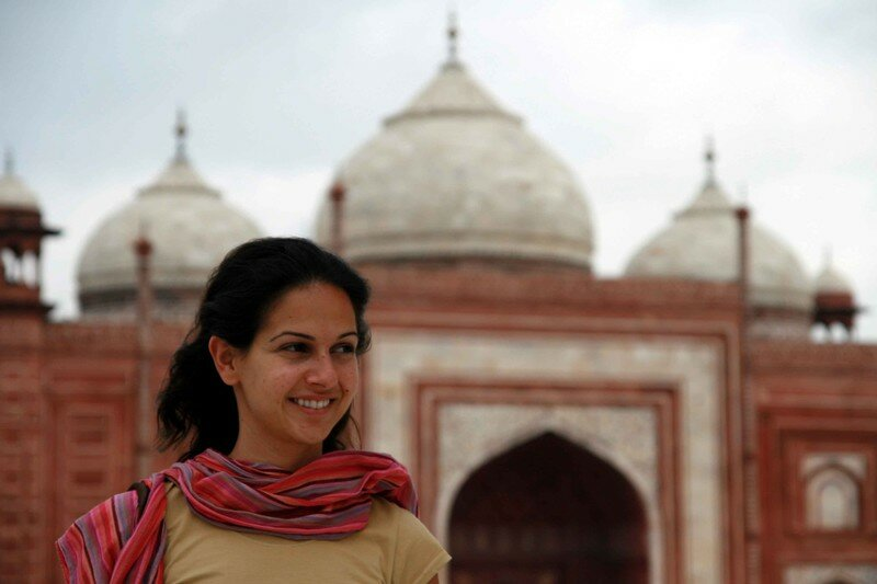 Rita and the mosque's Taj