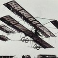 Meetig aérien de nice 1900 - effimoff sur biplan farman n°11