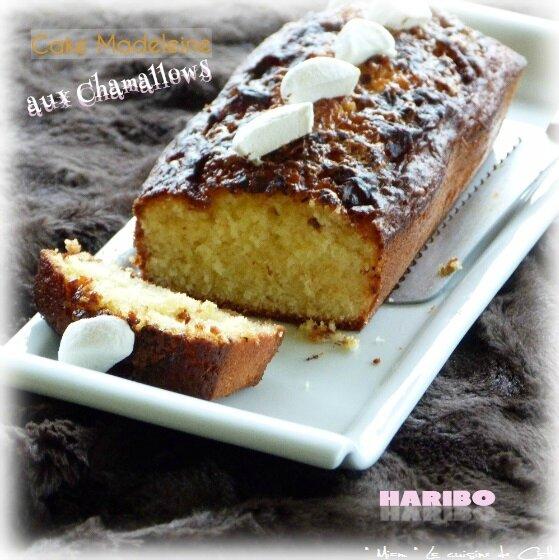 """ღ """" Miam """" Cake Madeleine aux Chamallows"""