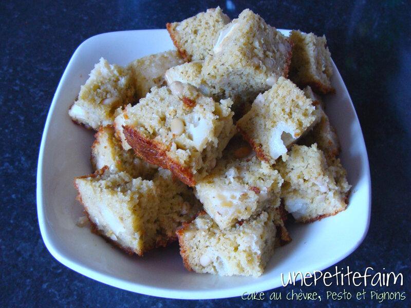 Cake chèvre pesto pignons
