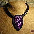 collier purple arabesque