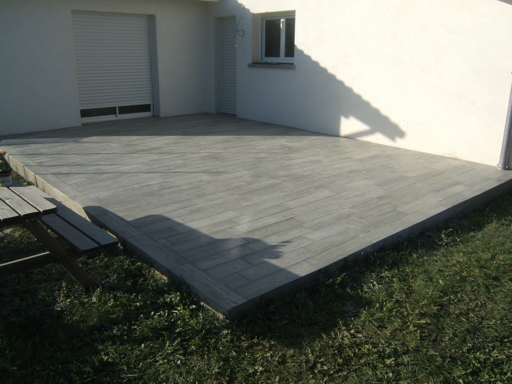 Pose Carrelage Terrasse Imitation Bois Diverses Id Es De Conception De Patio En