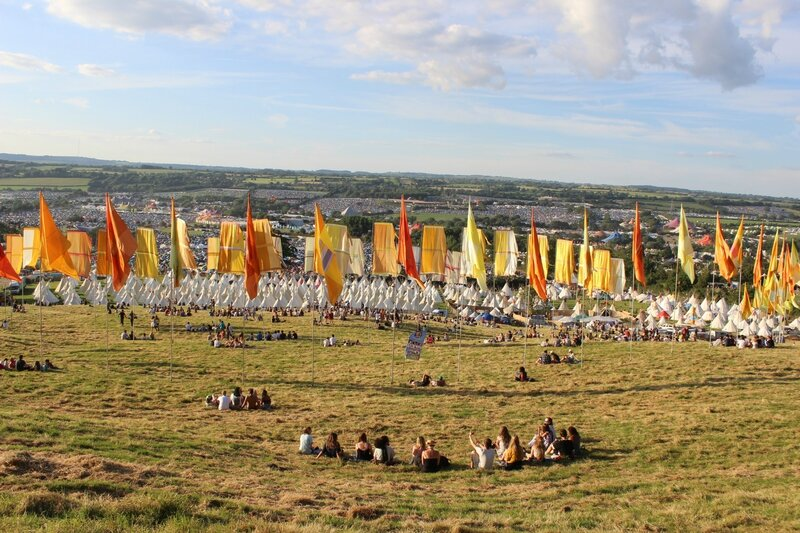 Glastonbury festival 2014 site