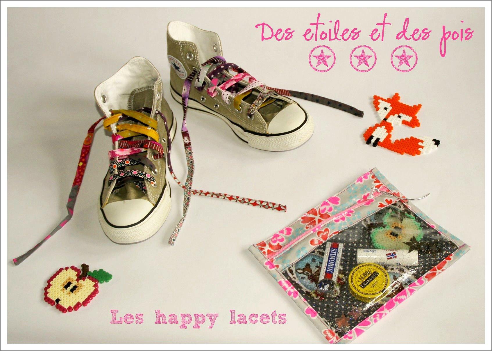 12-lacets et happy_Des etoiles et des pois