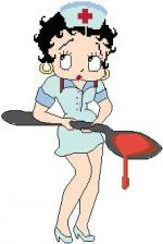 betty boop infirmiere02 grille pt