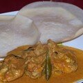 Vinegar chicken curry and appam ! ;-))) encore un curry de poulet quoi !