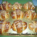 Croissants feuilletés au lben