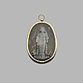 Exceptionnel médaillon-pendentif. camée, xviiie siècle