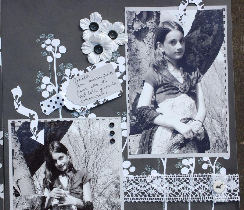 Scrapbooking photos noir et blanc