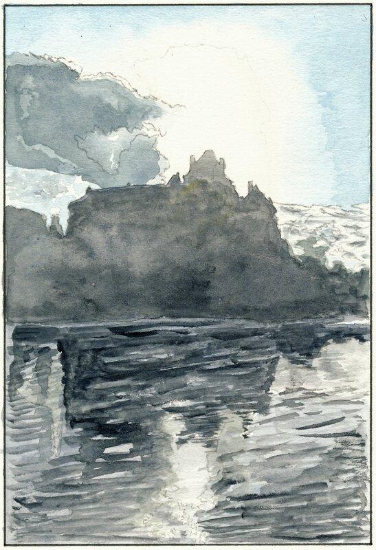 42 Solesmes - Crépuscule sur l'abbaye