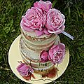 Nude cake - naked cake - wedding cake