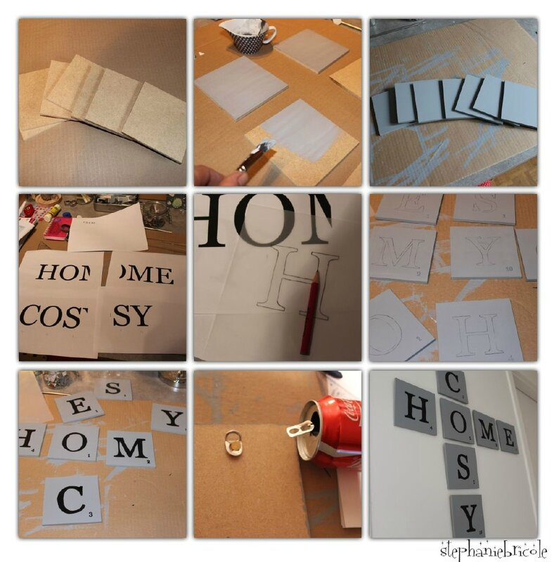 Diy Une D Co Murale Inspiration Scrabble St Phanie Bricole