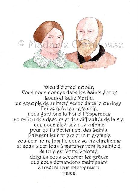 Prière des époux avec Louis et Zélie Martin
