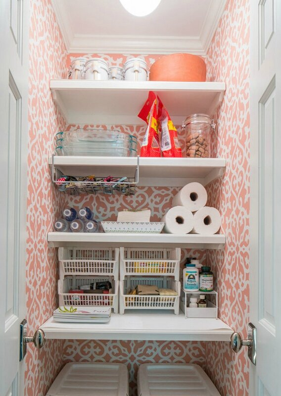 Small-Kitchen-Pantry_-Small-Kitchen-Pantry-Ideas_-Small-Kitchen-Pantry-with-Shelving-and-Wallpaper_-SmallKitchenPantry-KitchenPantry-Taste-Design-Inc