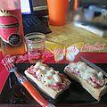 Baguette gratinée