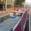 Ce lundi, 7° parcours à pied du chantier du tram, aux chaprais, avec le médiateur
