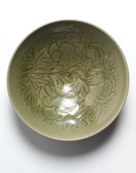 Bowl, carved and glazed stoneware, Yaozhou ware, China, Northern Song dynasty, 1000-1127