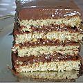 Gâteau au chocolat et thé matcha