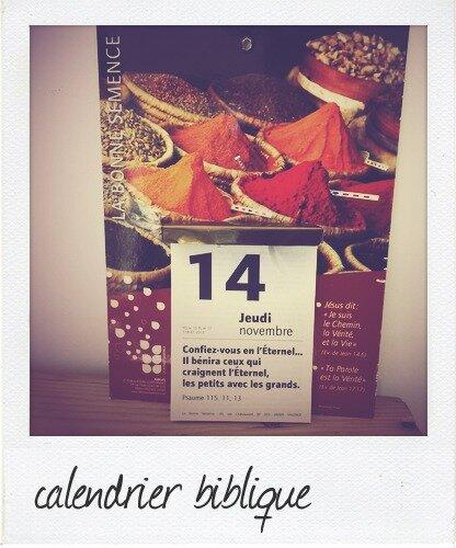 calendrier biblique