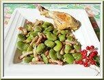 0354- fèves et petits lardons à la crème