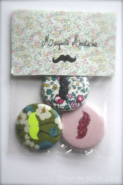 magnets moustaches