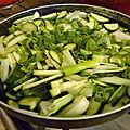 Poêlee de courgettes cebettes (oignon nouveau)